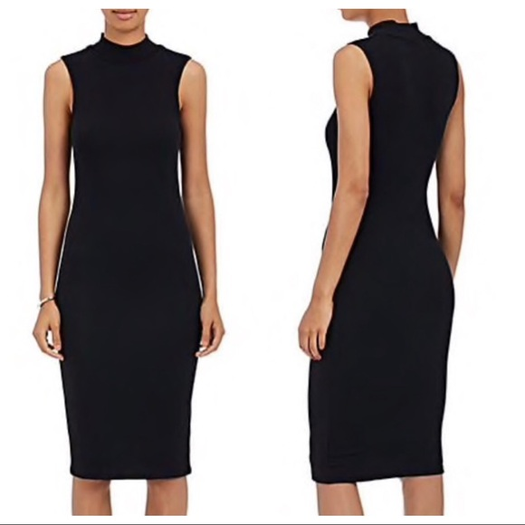 ATM Anthony Thomas Melillo Dresses & Skirts - atm / black rubbed high neck bodycon dress lbd
